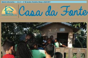 Boletim Informativo Casa Da Fonte   Jan à Abril 2017